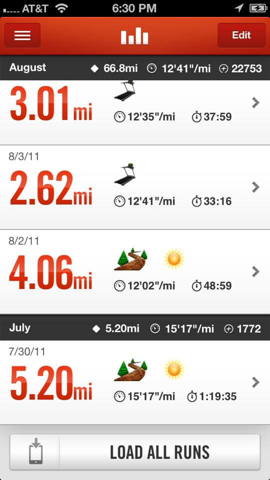 There it is.  Captured by my Nike plus app!